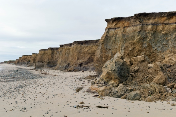 Coastal erosion at Seaview, Kilmore, 2013.