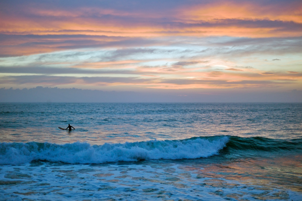 Lone Surfer at Sunset (4/6)