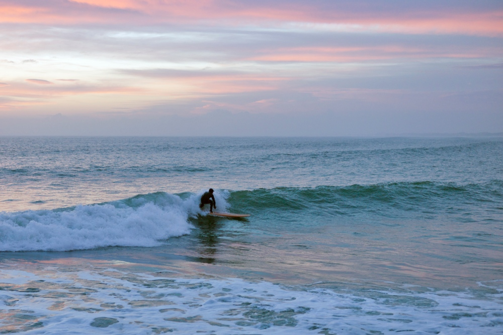 Lone Surfer at Sunset (5/6)